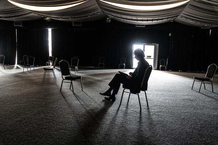 Nick Cave Alone at Alexandra Palace performance photos