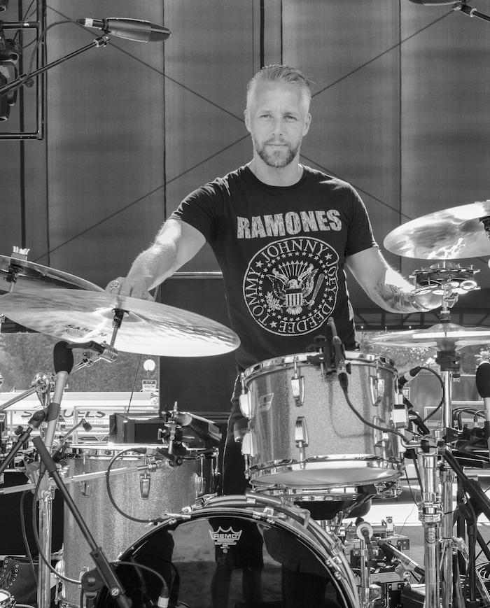 Mat Hector drummer for Iggy Pop